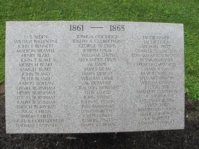 Union Township Civil War Monument Marker image. Click for full size.