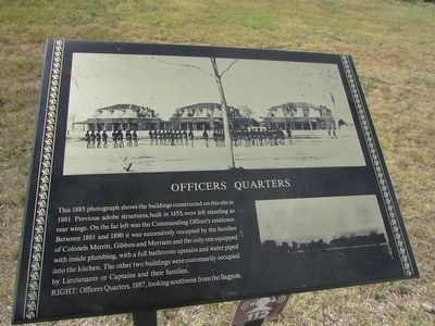 Officers Quarters Marker image. Click for full size.