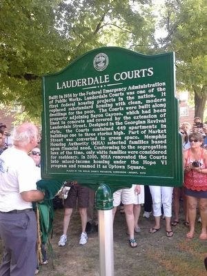 Lauderdale Courts Marker image. Click for full size.