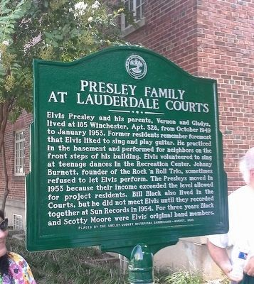 Presley Family at Lauderdale Courts Marker image. Click for full size.