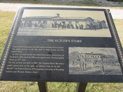 The Sutler's Store Marker image. Click for full size.