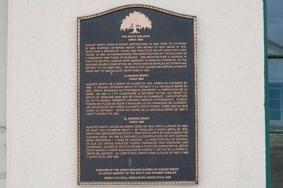 Erath Building Marker image. Click for full size.