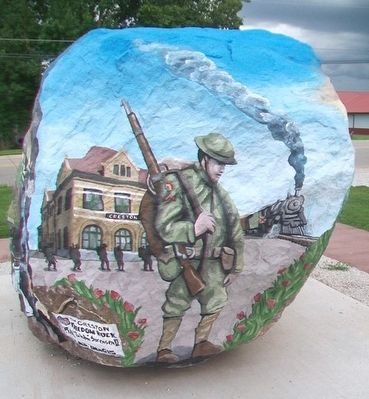 Creston Freedom Rock Veterans Memorial image. Click for full size.