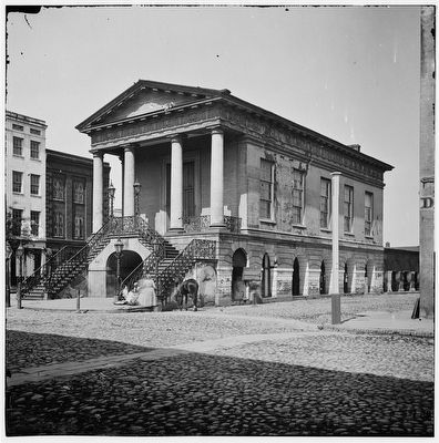 1865 Charleston, S.C. The old Market House (188 Meeting Street) image. Click for full size.
