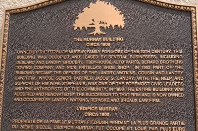 The Murray Building Marker image. Click for full size.