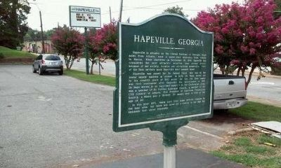 Hapeville, Georgia Marker reverse side with the same text. image. Click for full size.