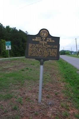 Site of the Robert C. Saxon House Marker image. Click for full size.