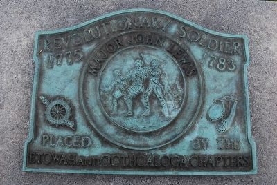 Major John Lewis Revolutionary Soldier Brass Plate image. Click for full size.