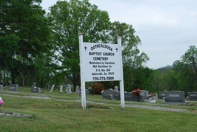 Cemetery Sign image. Click for full size.