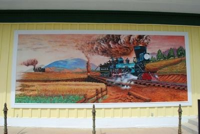 The Great Locomotive Chase Mural image. Click for full size.
