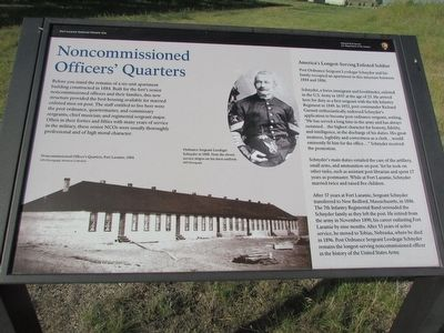 Noncommissioned Officers' Quarters Marker image. Click for full size.