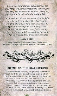 Former USCT Burial Ground Marker image. Click for full size.