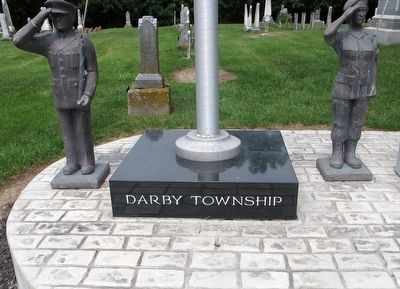 Darby Township Veterans Memorial Marker image. Click for full size.
