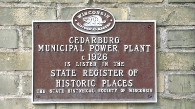 State Register of Historic Places Plaque image. Click for full size.