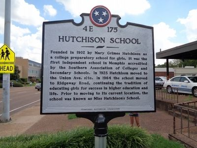 Hutchison School Marker image. Click for full size.