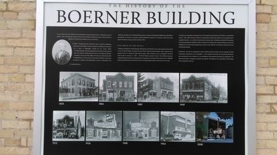 The History of the Boerner Building Marker image. Click for full size.