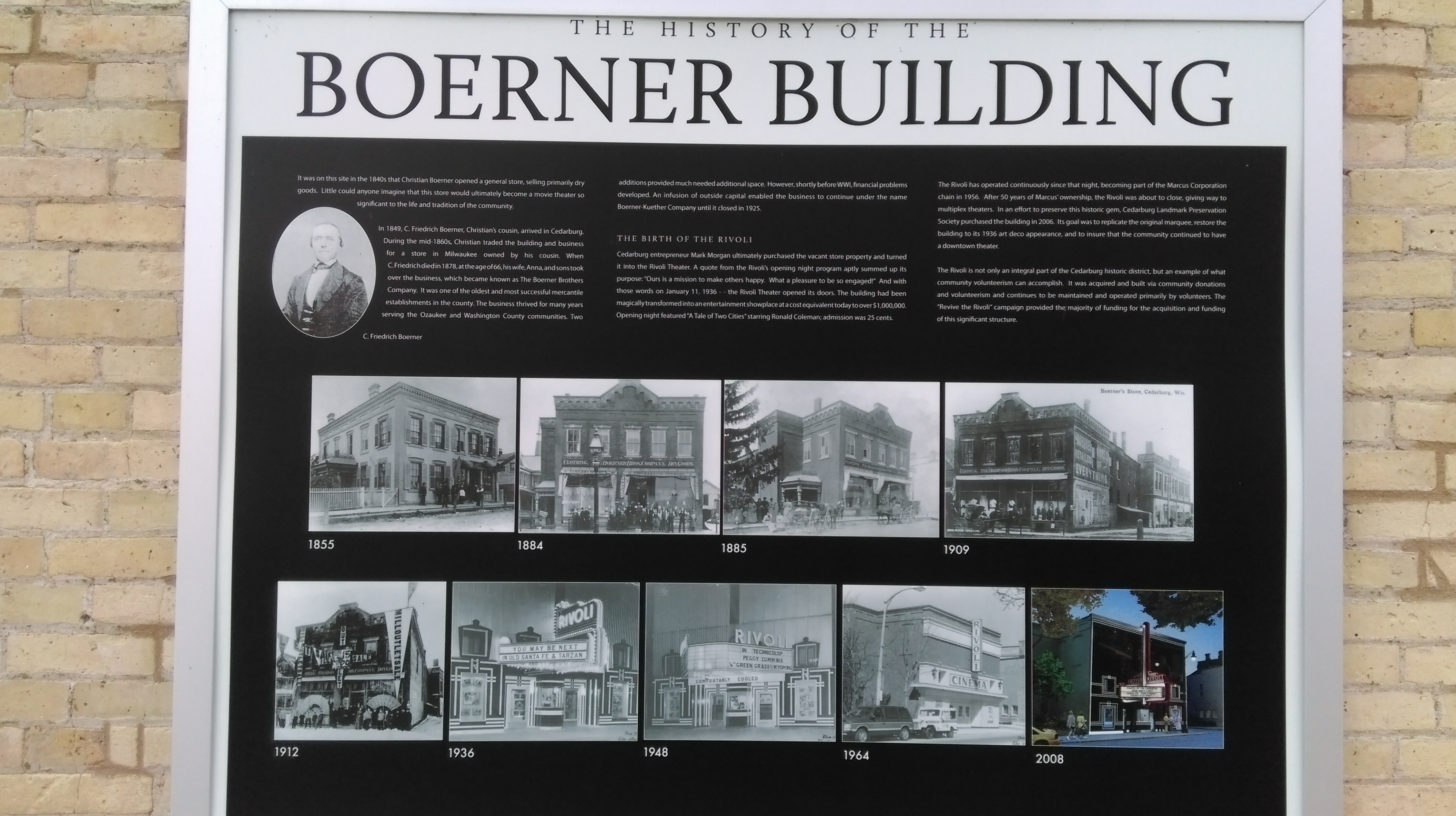 The History of the Boerner Building Marker