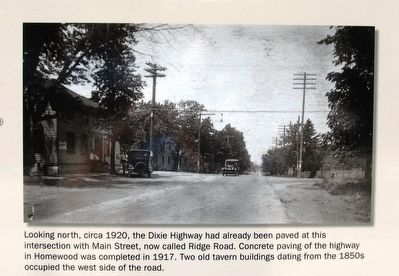 Dixie Highway Marker - Upper left photo image. Click for full size.