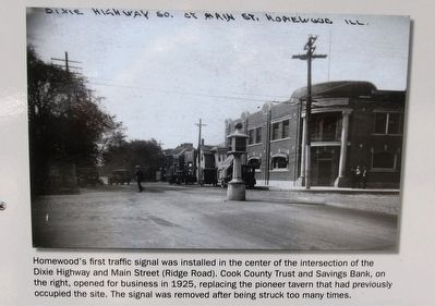 Dixie Highway Marker - center left photo image. Click for full size.
