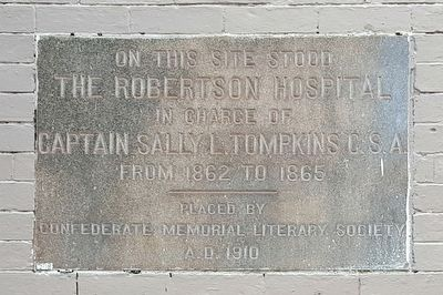 The Robertson Hospital Marker image. Click for full size.