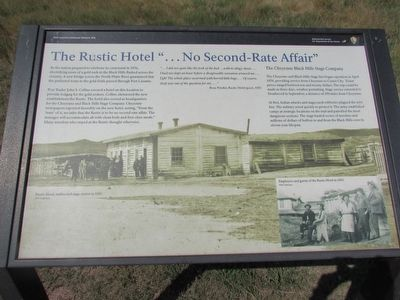 "The Rustic Hotel "" . . . No Second-Rate Affair"" Marker image. Click for full size."