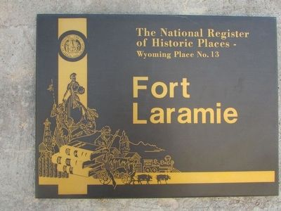 Second Fort Laramie Marker image. Click for full size.