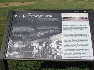 Post Quartermaster's Area Marker image. Click for full size.