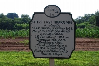 Lane to Site of First Thanksgiving image. Click for full size.