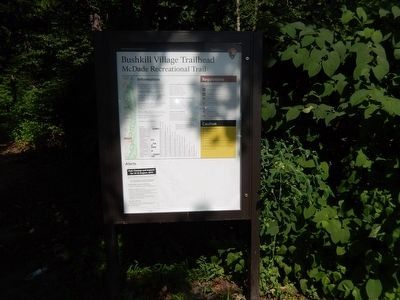 Bushkill Village Trailhead-McDade Recreational Trail marker image. Click for full size.