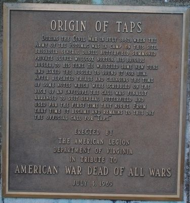 Origin of Taps Marker image. Click for full size.