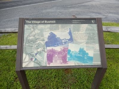 Village of Bushkill Marker image. Click for full size.