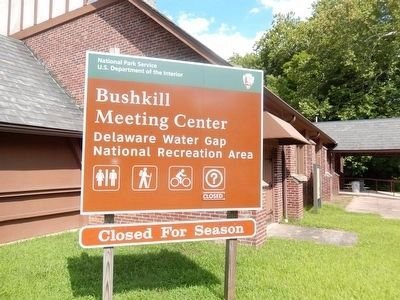 Village of Bushkill Marker at the Bushkill Meeting Center image. Click for full size.