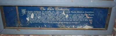 The First Thanksgiving Mural Text image. Click for full size.