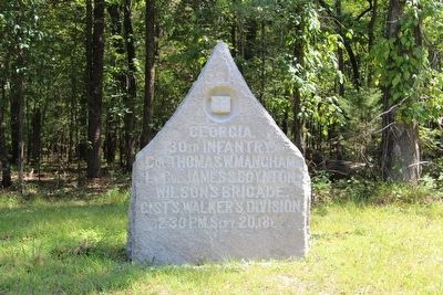 30th Georgia Infantry Marker image. Click for full size.
