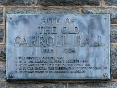 The Old Carroll Hall Marker image. Click for full size.