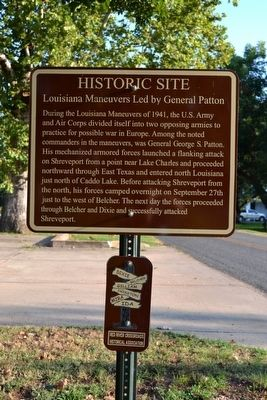 Louisiana Maneuvers Led by General Patton Marker image. Click for full size.