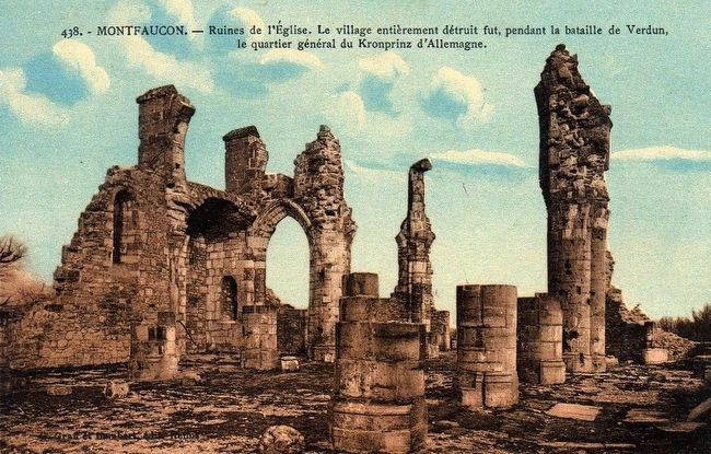 <i>Montfaucon - Ruines de l&#39;église…</i> image. Click for full size.