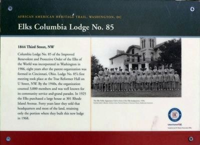 Elks Columbia Lodge No. 85 Marker image. Click for full size.