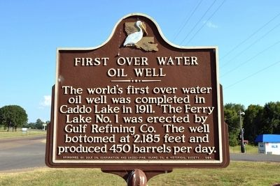 First Over Water Oil Well Marker image. Click for full size.