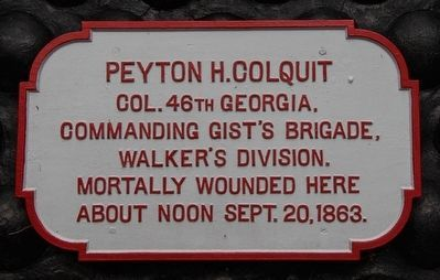 Peyton H. Colquit Memorial Shell Monument Marker image. Click for full size.