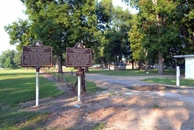 Peck Village and Peck Mounds Markers image. Click for full size.