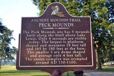 Peck Mounds Marker image. Click for full size.