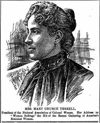 Mrs. Mary Church Terrell image. Click for full size.