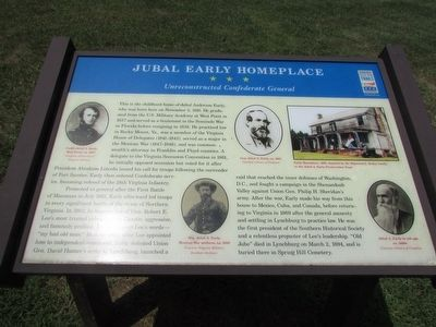 Jubal Early Homeplace Marker image. Click for full size.