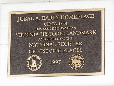 Jubal A. Early Homeplace Marker image. Click for full size.