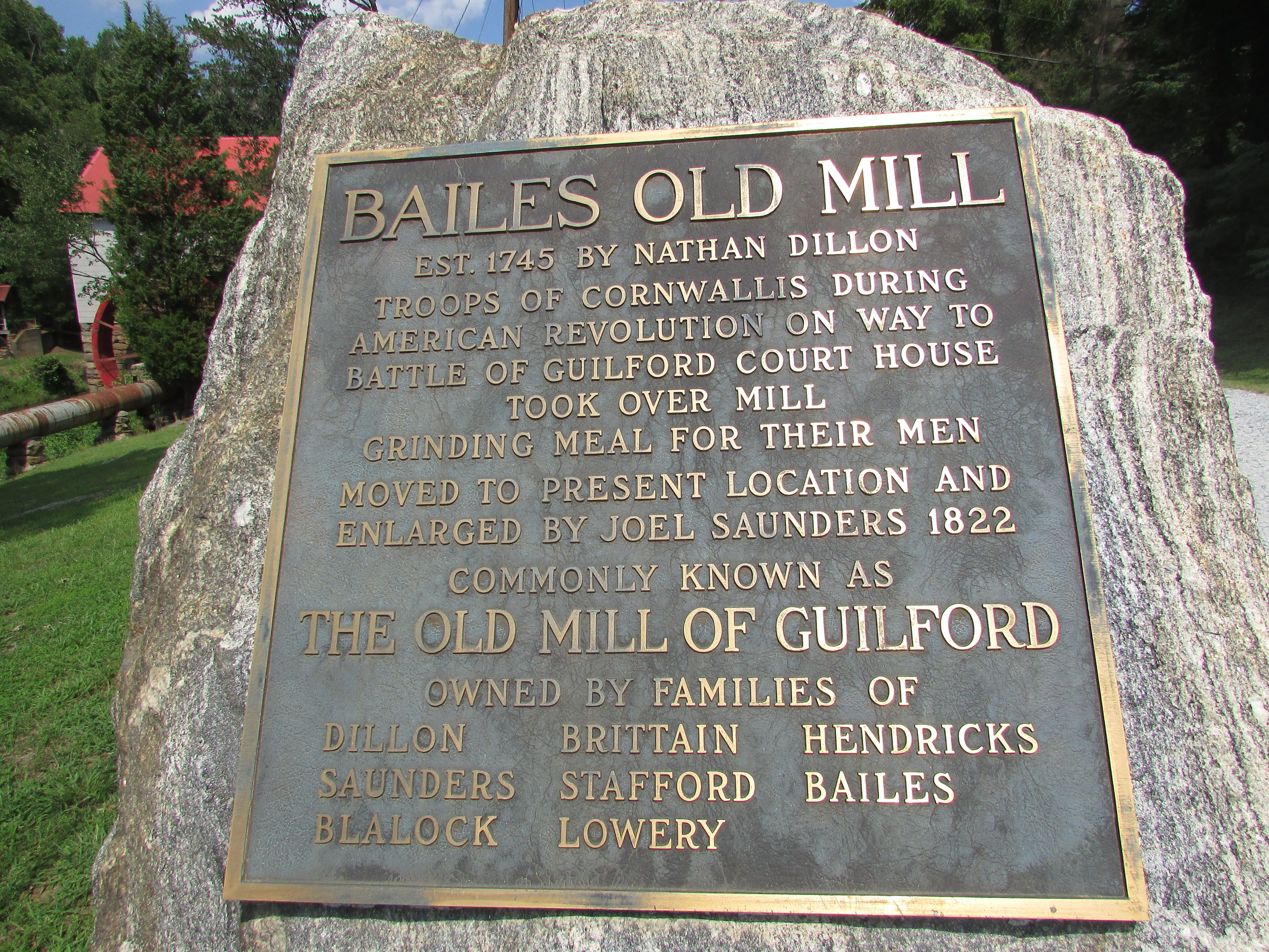 Bailes Old Mill Marker
