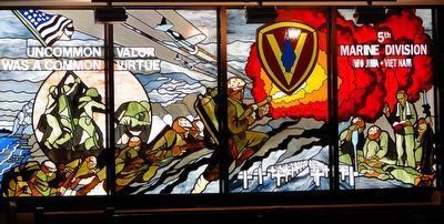 Uncommon Valor Stained Glass Window image. Click for full size.