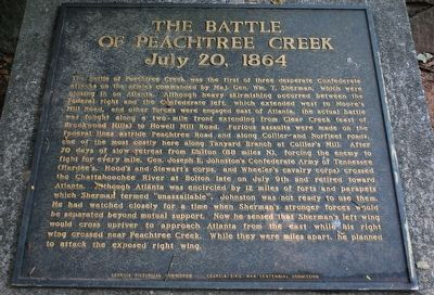 The Battle of Peachtree Creek Marker image. Click for full size.