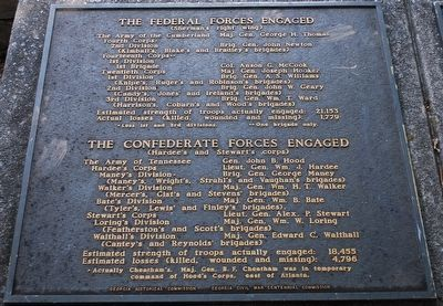 The Federal Forces Engaged/ The Confederate Forces Engaged Marker image. Click for full size.