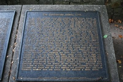 The Confederate Attack, Cont. Marker image. Click for full size.